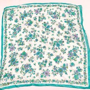 Vintage Accessories - floral hair scarf